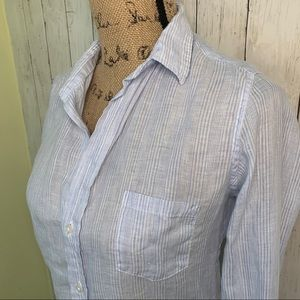 Frank & Eileen Button Down Linen Top XS